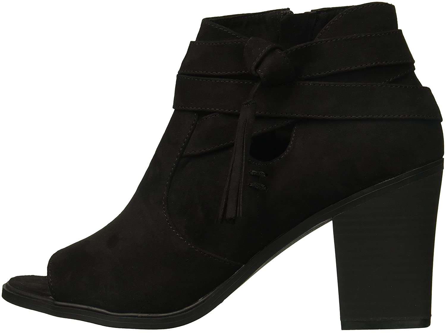 Rampage Womens Promise Ankle Boot 6.5 Medium US Black Micro