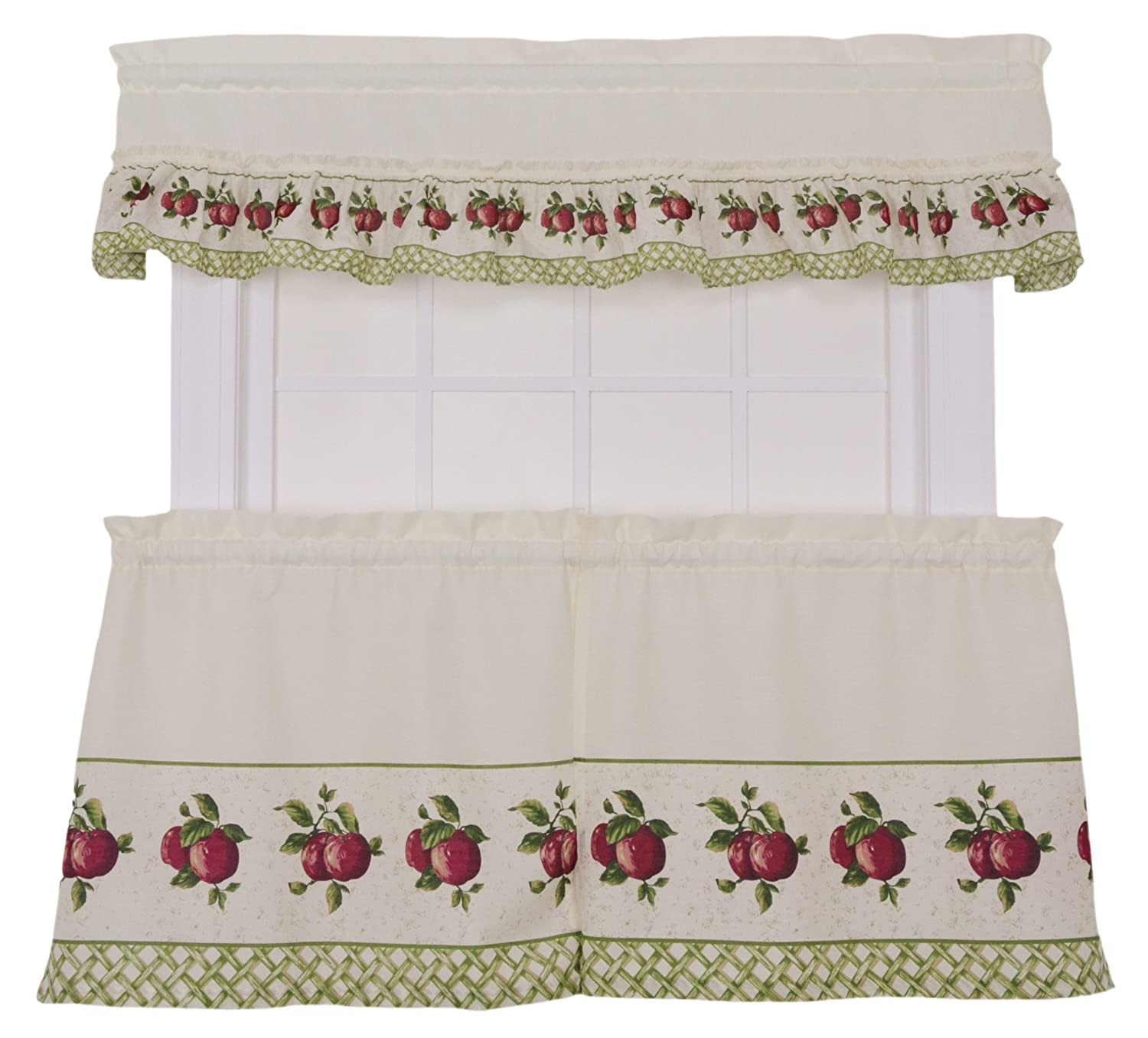Miraculous Ellis Curtain Kitchen Collection Apple Trellis 60 By 36 Inch Tailored Tier Curtains Red Download Free Architecture Designs Scobabritishbridgeorg
