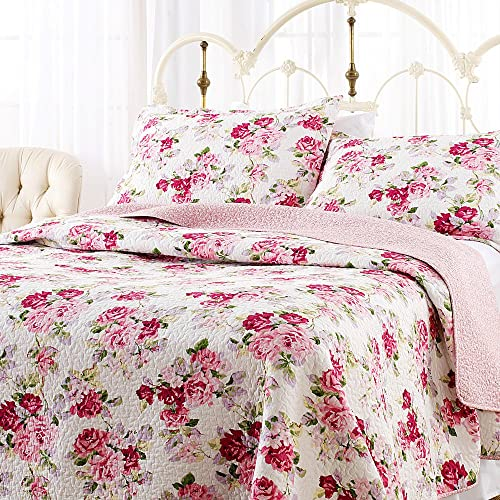 Laura Ashley Lidia Quilt Set, Pink, Full/Queen