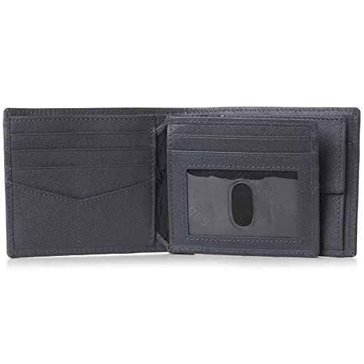 Alpine Swiss RFID Mens Leather Wallet Deluxe Capacity Coin ...