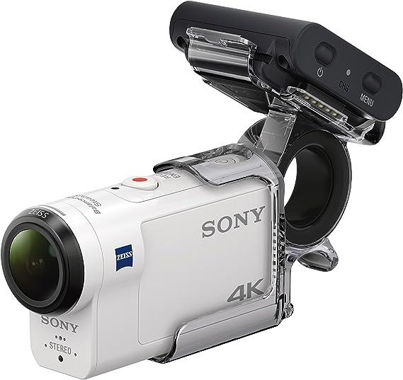 Sony FDRX3000R Kit de Cámara Action CAM 4K y Grip para Dedo AKAFGP1, Blanco/Negro: Amazon.es: Electrónica