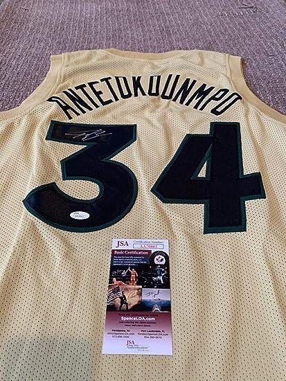 510d1f4d9 Image Unavailable. Image not available for. Color  Giannis Antetokounmpo  Autographed Signed Jersey Memorabilia JSA COA Milwaukee Bucks