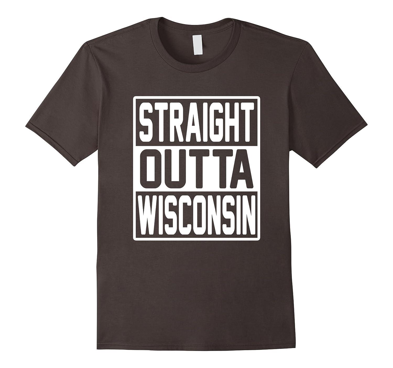 3d702b04bcf87 Straight Outta Wisconsin State Flag Shirt Wisconsin tshirt-Newstyleth