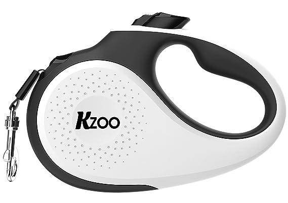 Kzoo patentierten 360 ° Schwere Pflicht, verwickelfreie Hundeleine für Hunde bis 50 kg; ausziehbar 5 m lang Nylon Tape/Band m