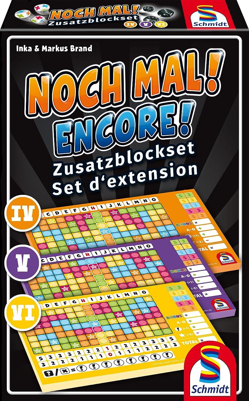 3 St/ück /&  Spiele 49345 Noch Mal Zusatzbl/öcke Schmidt Spiele 49327 Noch mal