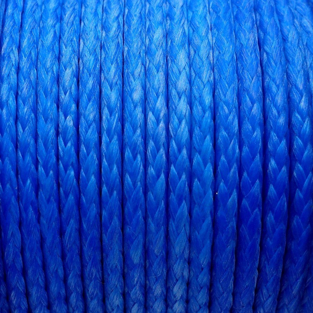 emma kites Blue UHMWPE Braided Cord High Strength Least Stretch Tent Tarp Rain Fly Guyline Hammock Ridgeline Suspension for Camping Hiking Backpacking Survival Recreational Marine Outdoors 100Ft 750Lb by emma kites (Image #3)
