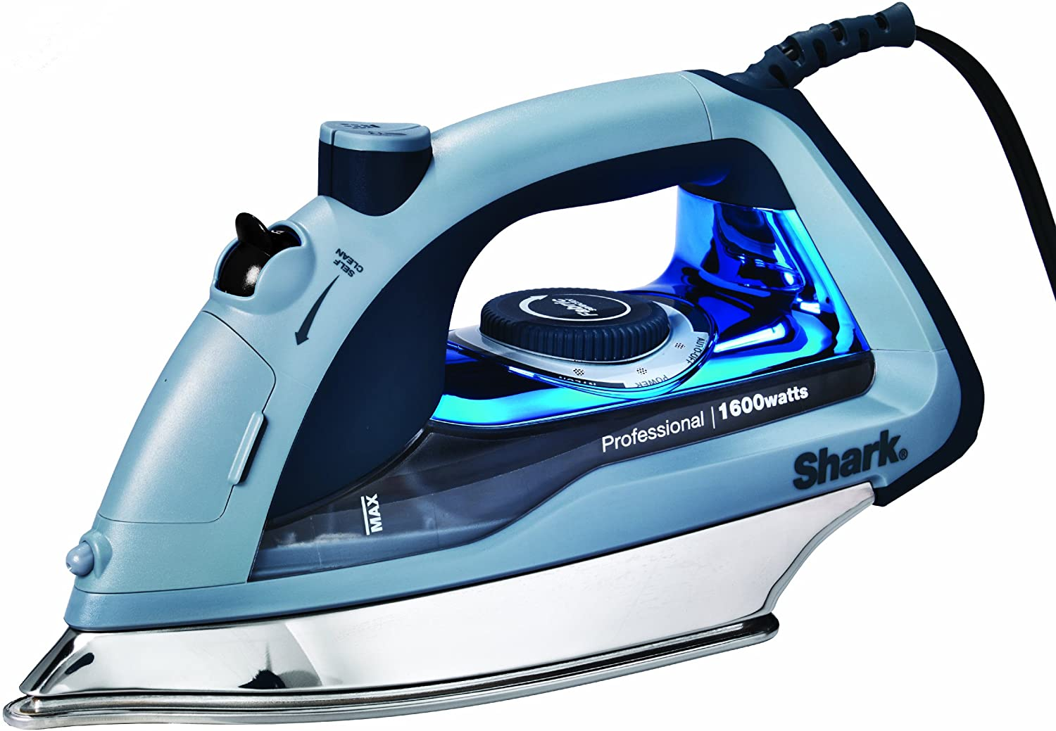 Amazon Com Shark Professional Garment Steamer With Auto Shut Off And Stainless Steel Soleplate 1600 Watts Electric Steam Iron Gi405 Blue Home Kitchen