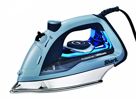 Shark Professional, Garment Steamer with Auto-Shut Off and Stainless Steel Soleplate, 1600 Watts Electric Steam Iron GI405 , Blue