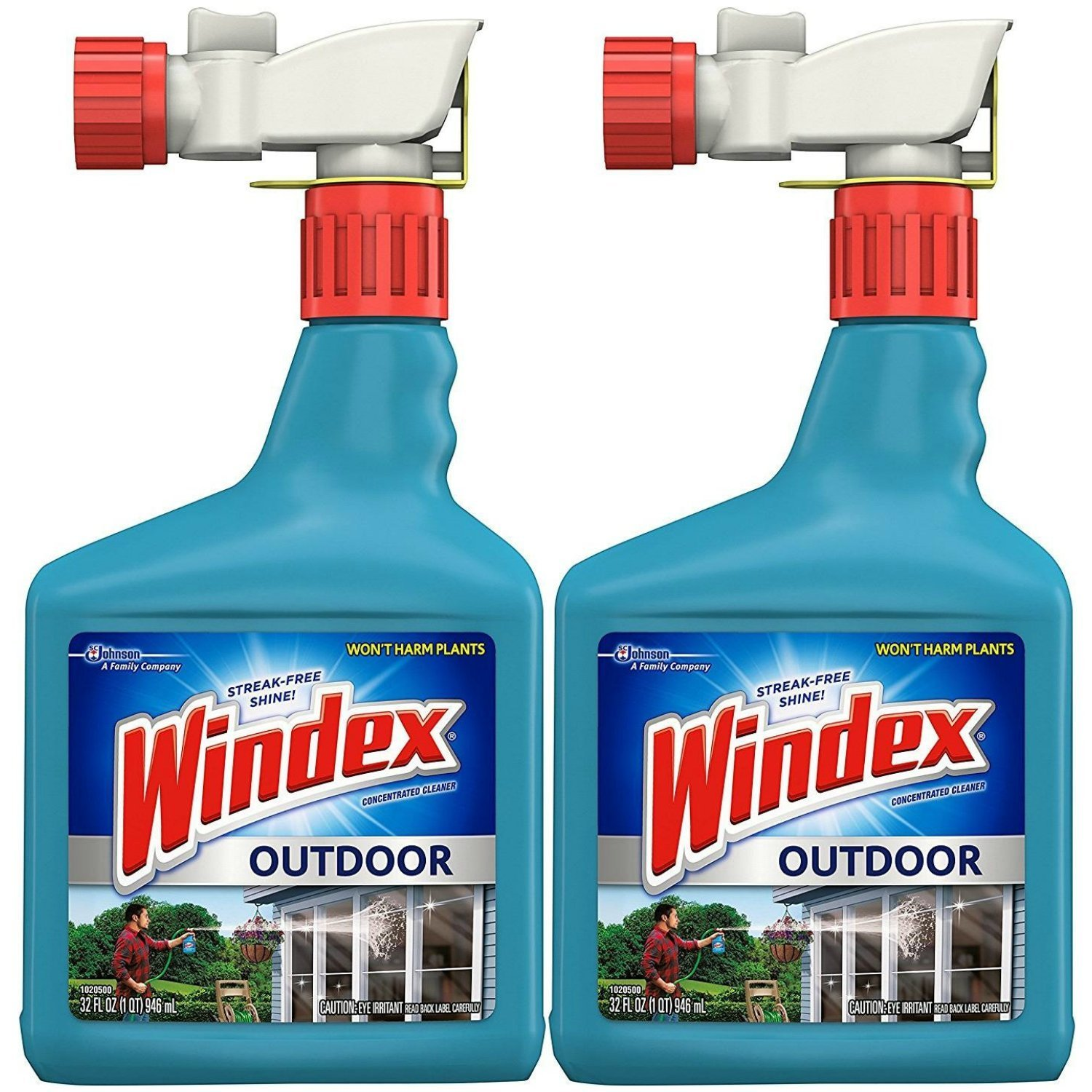 Windex Outdoor Glass and Patio Concentrated Cleaner 32 fl oz (Pack of 2)