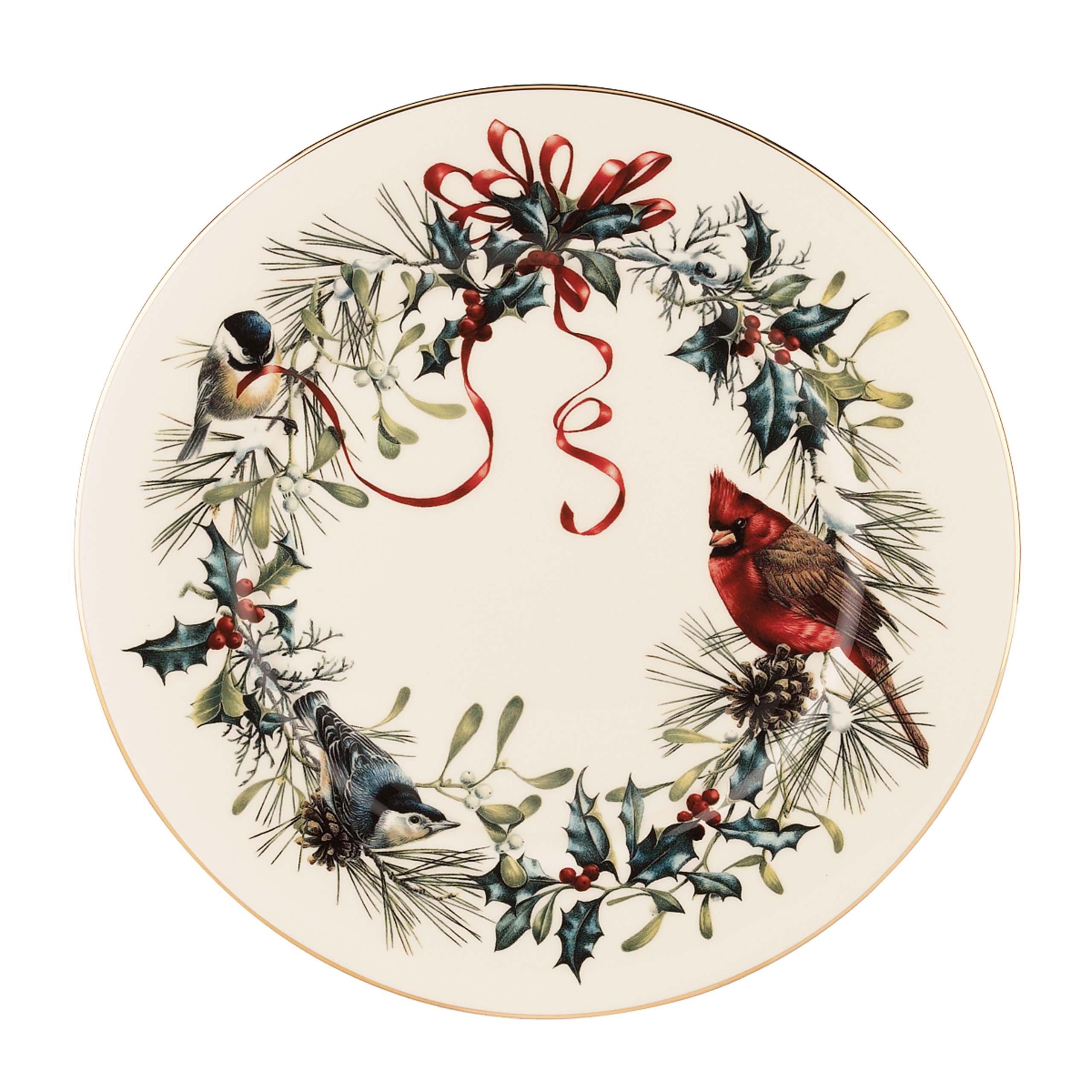 Lenox Winter Greetings Dinner Plate,Ivory, Gold