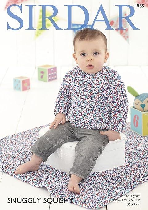 Sirdar 4855 patrón para tejer bebé niños Jersey y manta en Sirdar ...