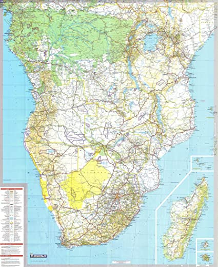 Michelin National Wall Map of Central and South Africa