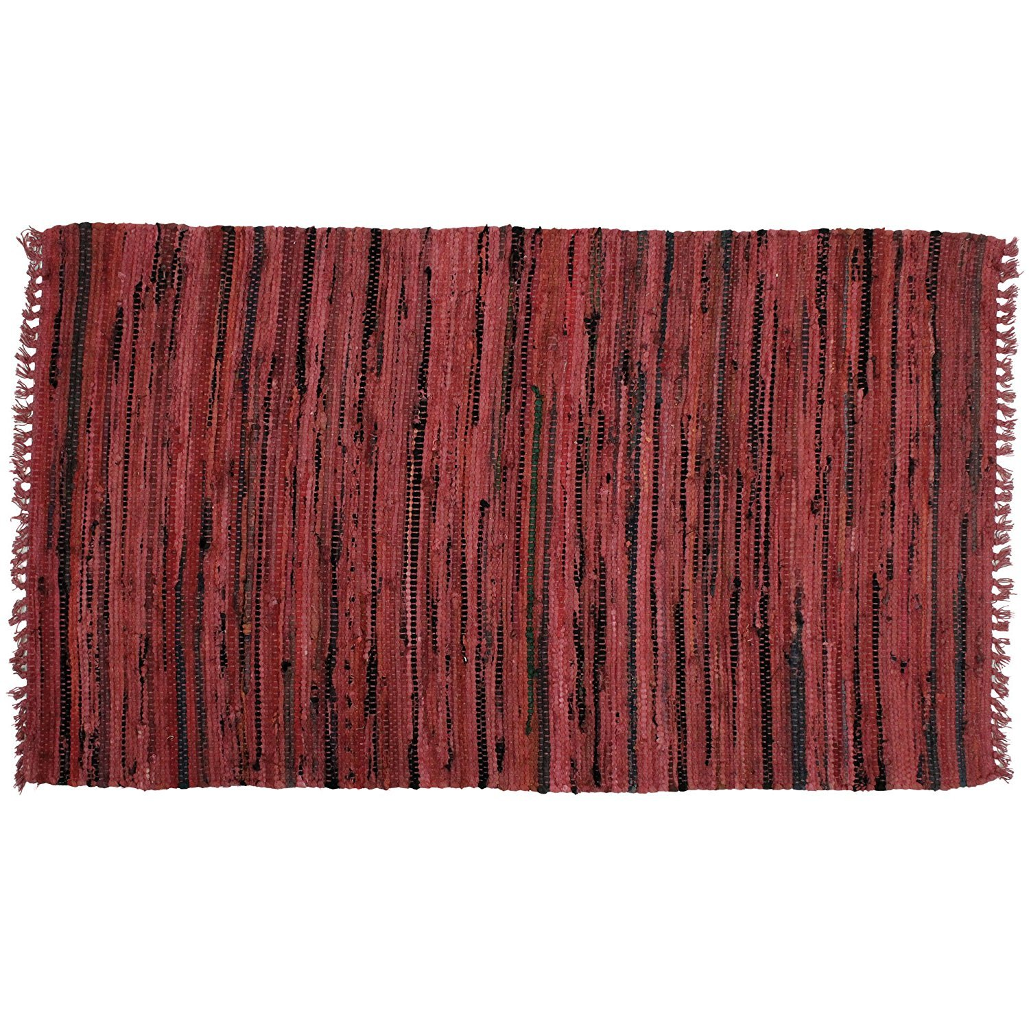 "Amazon Sturbridge Country Rag Rug in Honey 24"" x 36"" Area"
