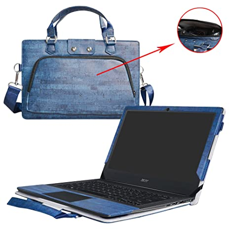 Aspire V 13 Case,2 in 1 Accurately Designed Protective PU Leather Cover + Portable