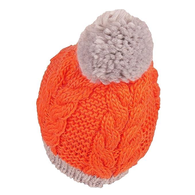 Eisbär by Gora, Farbe:Grau-Orange-Pompon, Größe:56-62cm: Amazon.es: Ropa y accesorios