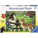 Ravensburger New Neighbors 60 Piece Jigsaw Puzzle for Kids – Every Piece is Unique, Pieces Fit Together Perfectly