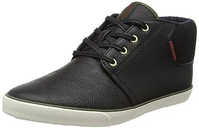 JACK & JONES Herren Jfwspider PU Sneaker Anthracite Sneakers, Schwarz (Anthracite), 44 EU