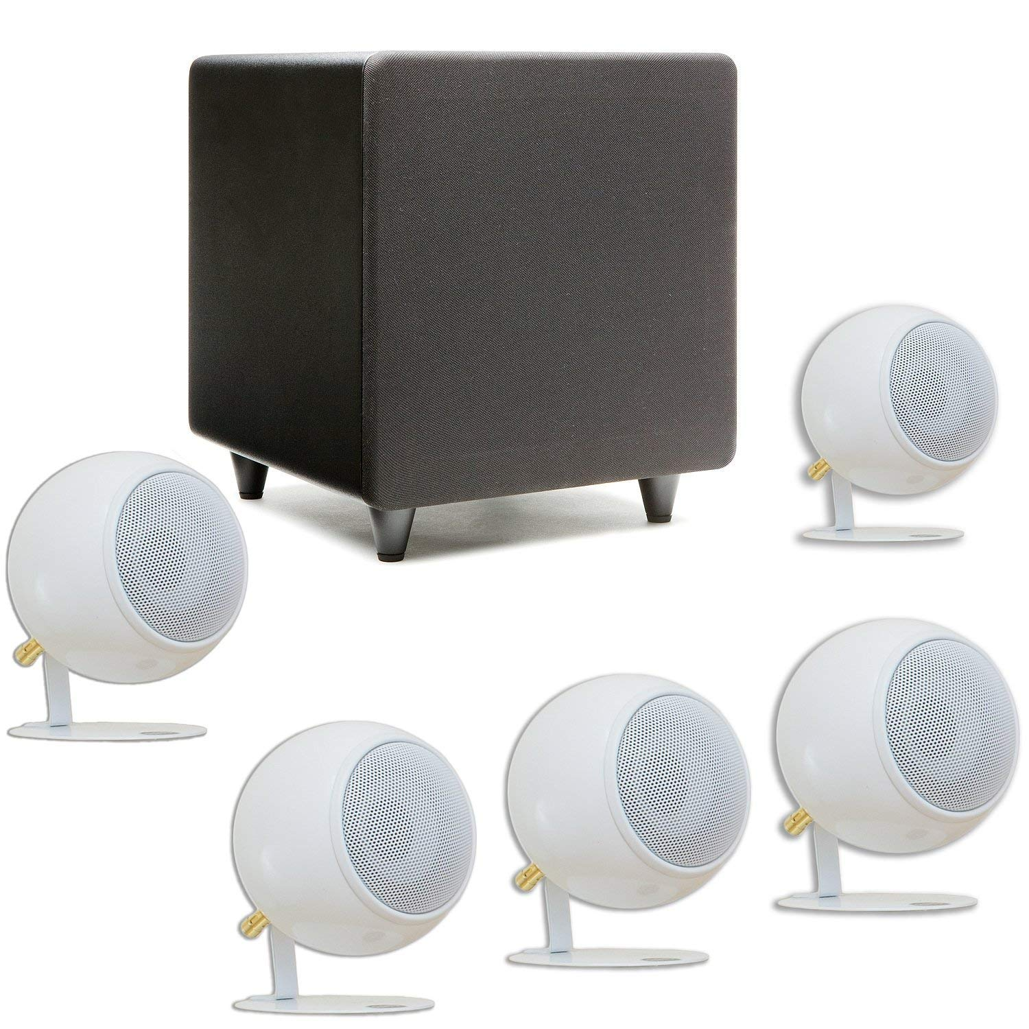 Orb Audio: Mod1 Mini 5.1 Home Theater Speaker System - Surround Sound System - Includes 5 TV Speakers and 9'' Subwoofer - Great for Movies & Music, Outperforming Larger Subwoofers - Handmade in The US