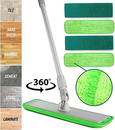 "24/"" Microfiber Wet Grout Scrub Refill Mop Pad Cleans Grout and Tile Floors"
