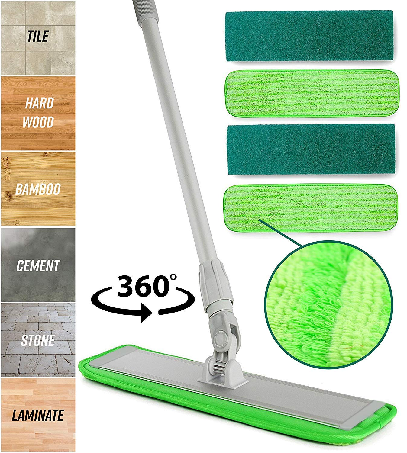 Microfiber Mop Floor Cleaning System Quantitivegoodsshop