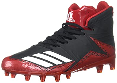 new concept aefc2 2d512 adidas Mens Freak X Carbon Mid Football Shoe, BlackWhitePower RED,