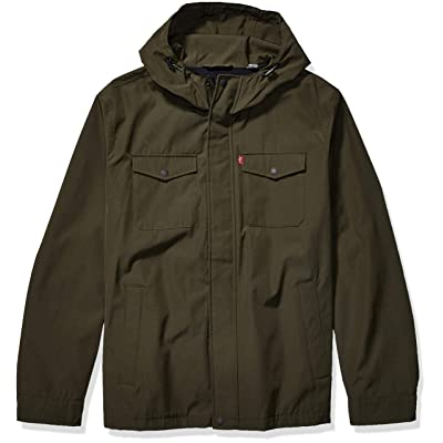 Levi's Men's Arctic Cloth Hooded Rain Slicker Jacket at Men's Clothing store