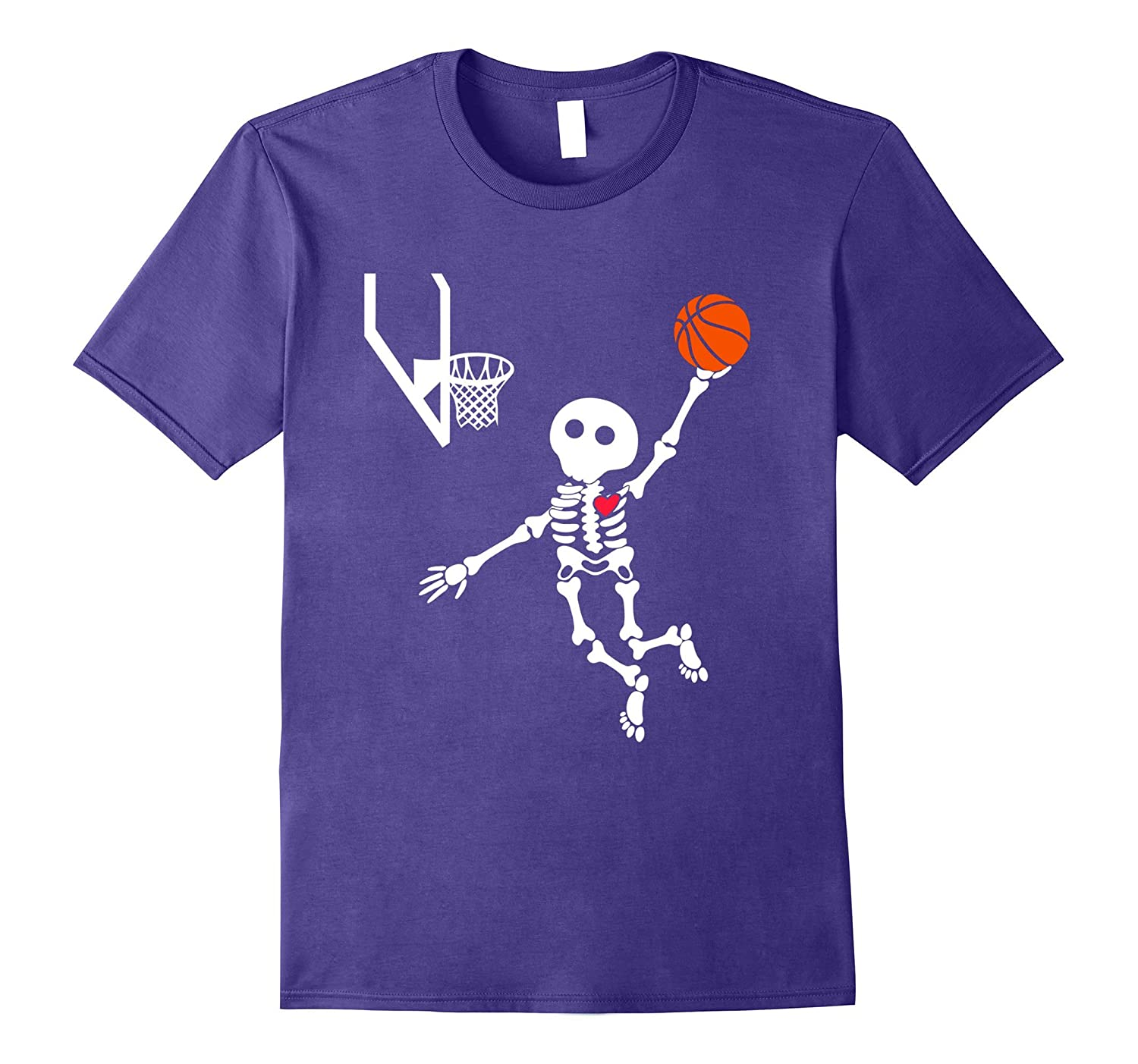 basketball skeleton halloween shirt Black-Teesml