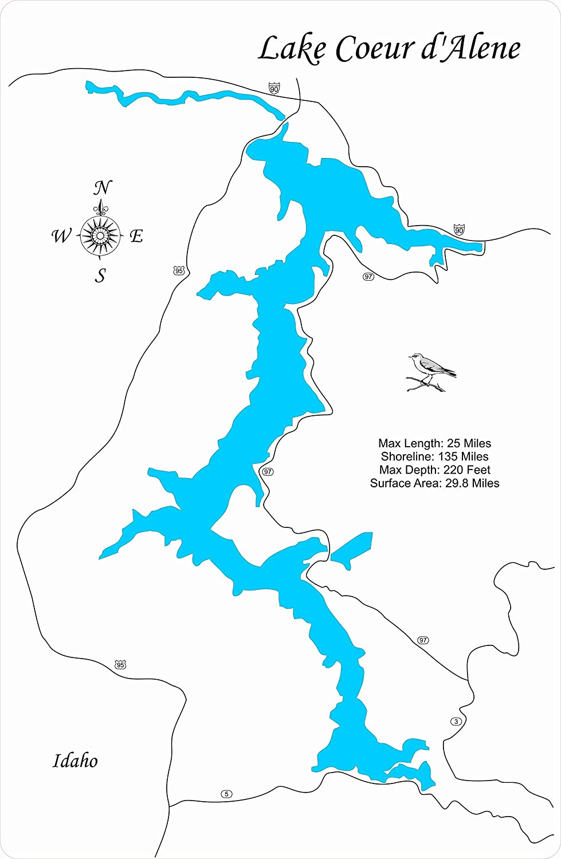 Amazon.com: Lake Coeur d' Alene, Idaho: Framed Wood Map Wall ... on lookout pass idaho map, old idaho map, dalton gardens idaho map, south fork snake river idaho map, fernan idaho map, colville idaho map, ketchum idaho map, blackfoot idaho map, idaho idaho map, panther creek idaho map, cougar gulch idaho map, trail of the coeur d'alenes map, lemhi pass idaho map, lewiston idaho map, nez perce county idaho map, greenville idaho map, north idaho map, springfield idaho map, givens hot springs idaho map, cordelaine idaho map,