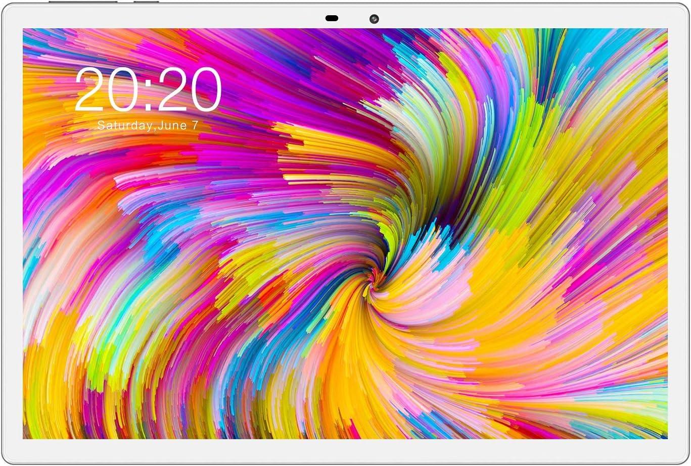 TECLAST M30Pro Tablet PC 10.1 Pulgadas 4GB RAM+128GB ROM FHD 1920x1200, Android 10 Octa-Core 2.0 GHz MTK Helio P60, Bluetooth, 4G Dual SIM/SD, Type-C, 5+8MP Cámara, WiFi+Cellular+GPS, 7500mAh Batería