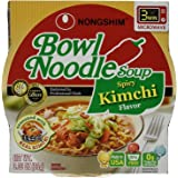 Nongshim Bowl Spicy Kimchi Noodle Soup, 3.03 Ounce (Pack of 18)