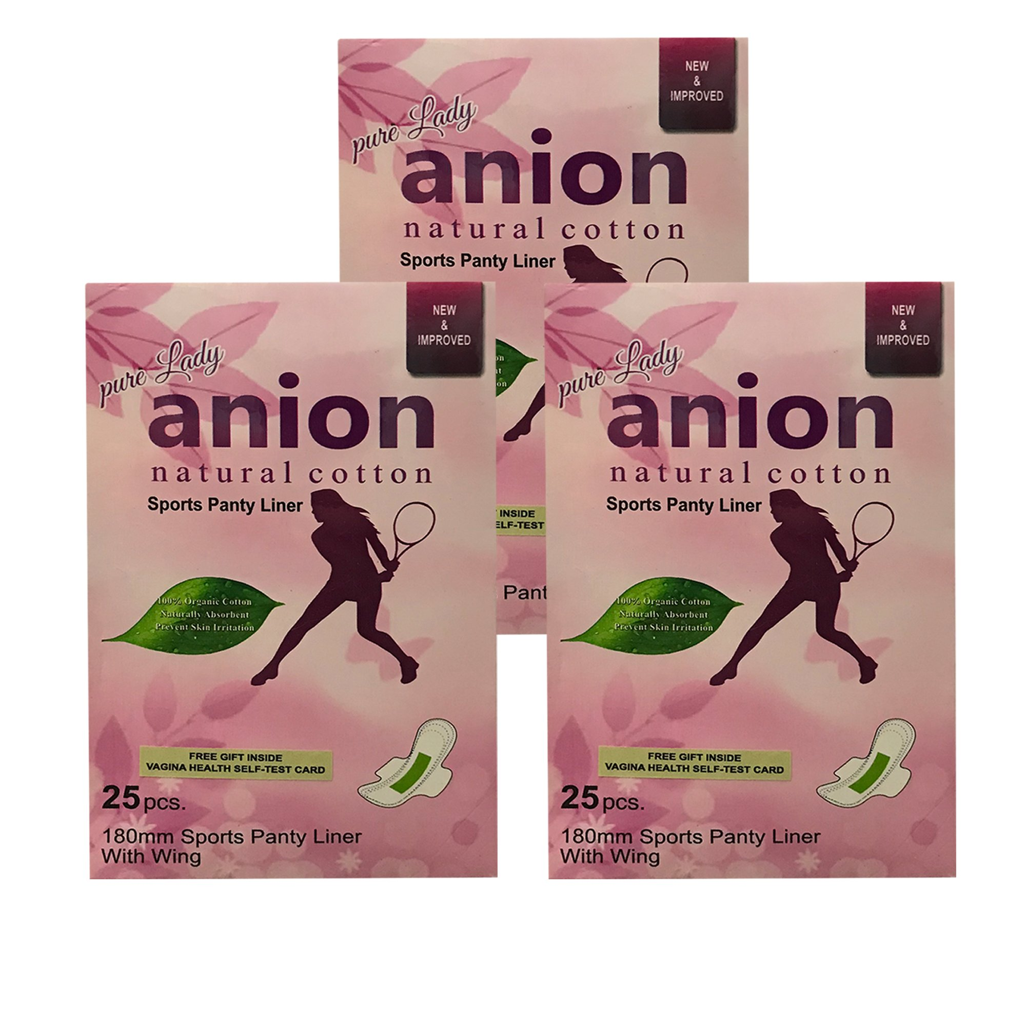 2436c05621516 Happy Time Pure Anion Sports Pantyliner - Pack of 3 product image