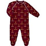 NCAA Newborn Boys Sleepwear All Over Print Zip Up Coveralls