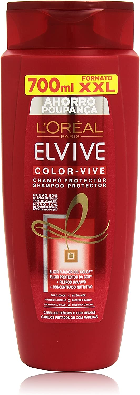 L'Oreal Paris Champú Color-Vive - 700 ml