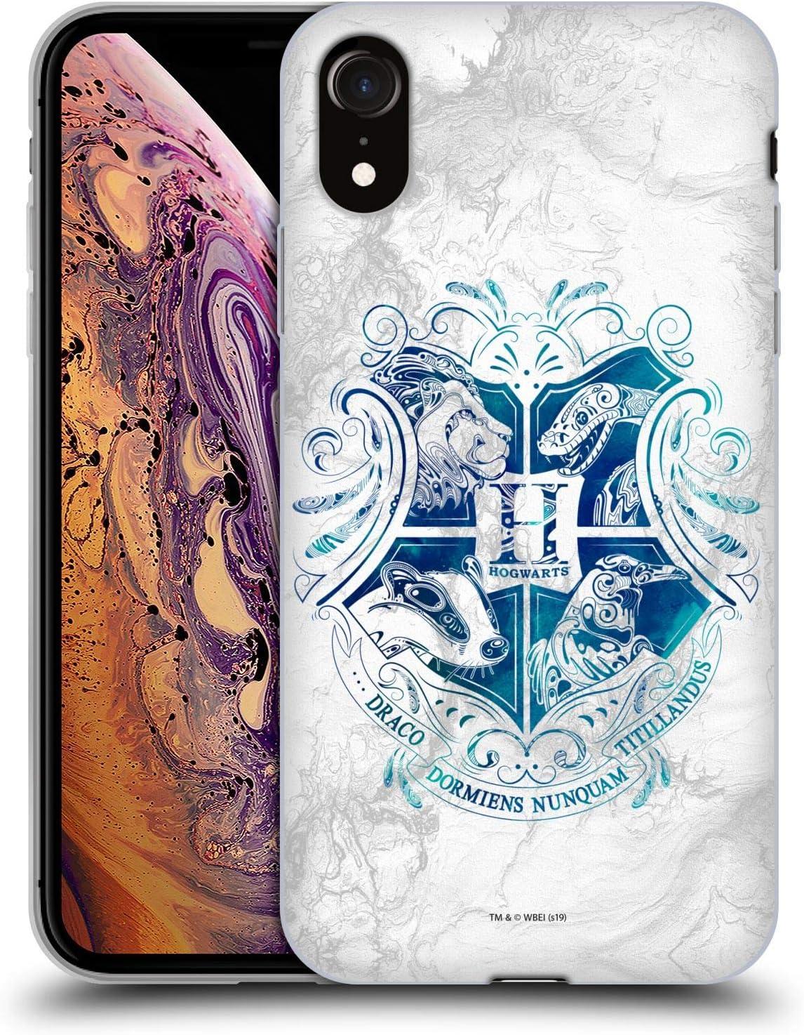 Head Case Designs Offiziell Zugelassen Harry Potter Hogwarts Aguamenti Deathly Hallows Ix Soft Gel Handyhülle Hülle Huelle Kompatibel Mit Apple Iphone Xr Elektronik