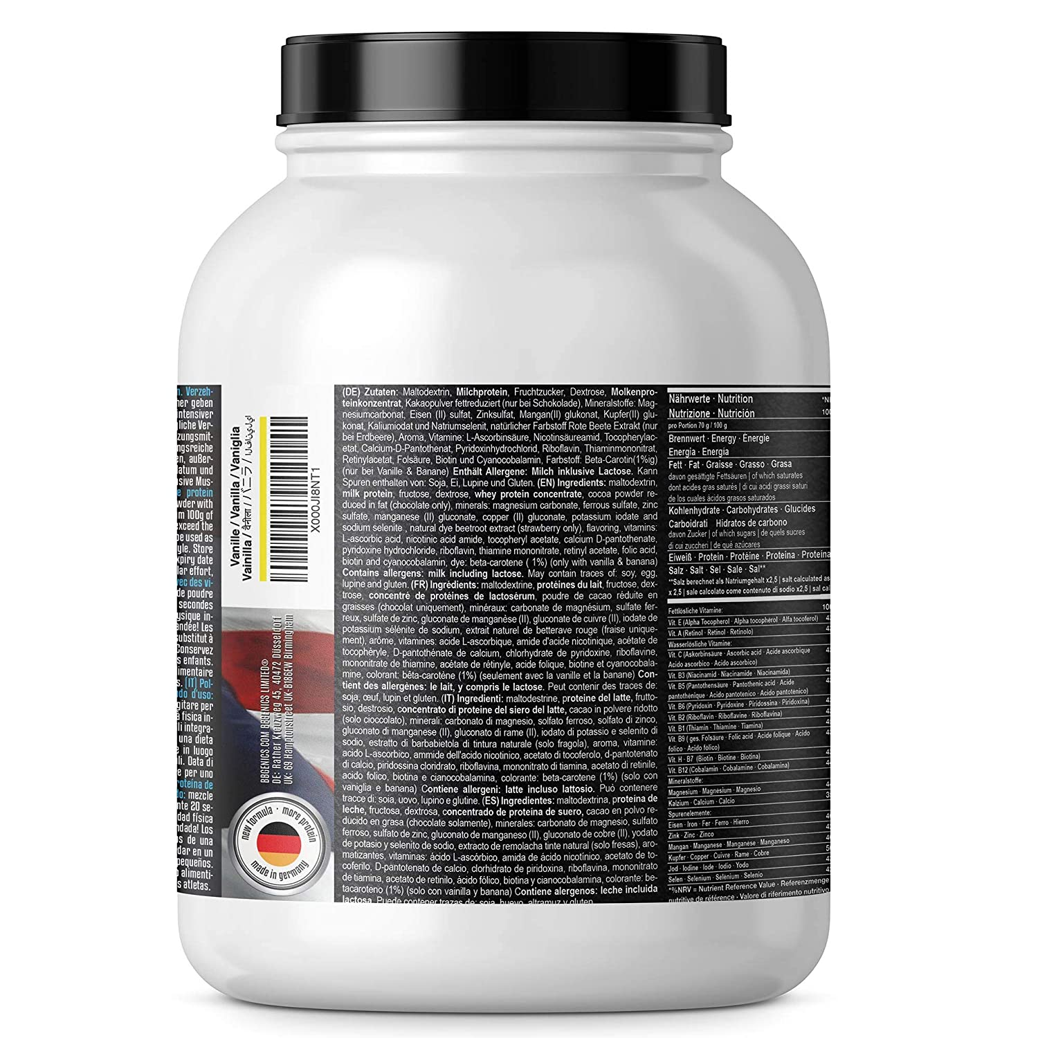 Heavy Weight Gainer, hidratos de carbono y proteínas, suplementos dietéticos BBGENICS, 2000g chocolate: Amazon.es: Salud y cuidado personal