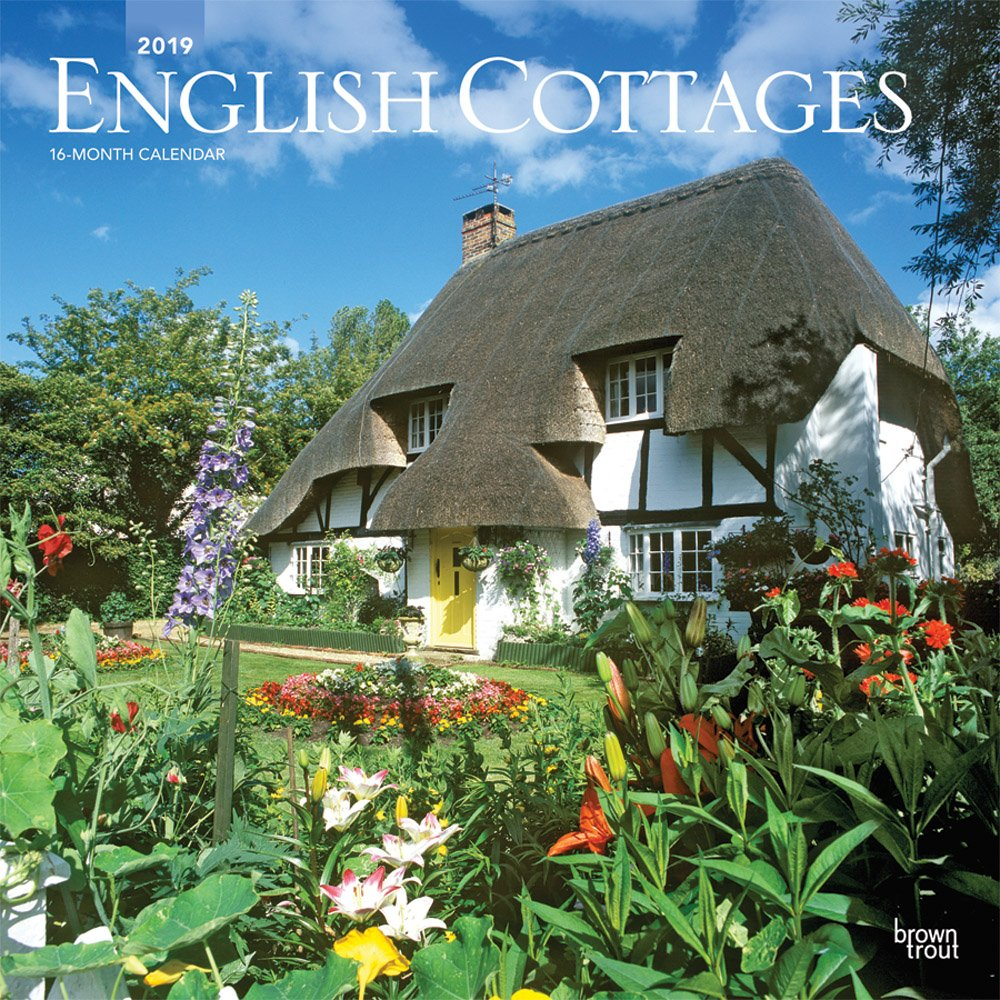 English Cottages 2019 12 x 12 Inch Monthly Square Wall Calendar, UK United Kingdom Gardening Outdoor Home Country Nature (Multilingual Edition) (Multilingual) Calendar – Wall Calendar, June 1, 2018 Inc. BrownTrout Publishers 197540338X General Reference