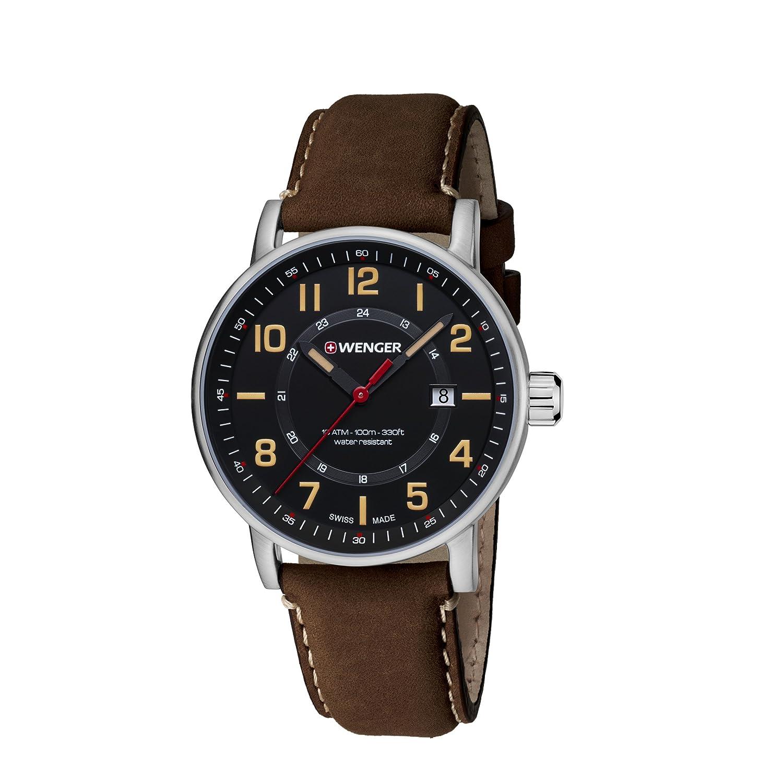 WENGER Unisex-Armbanduhr Chronograph Quarz Leder 01.0341.108