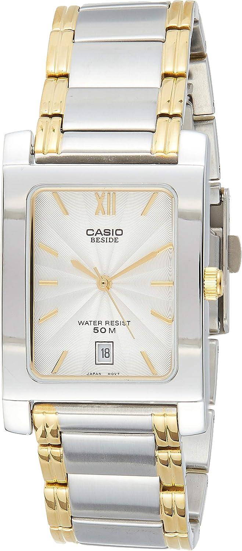 CASIO 19021 BEM-100SG-7A - Reloj Caballero Cuarzo Brazalete metálico dial Plateado