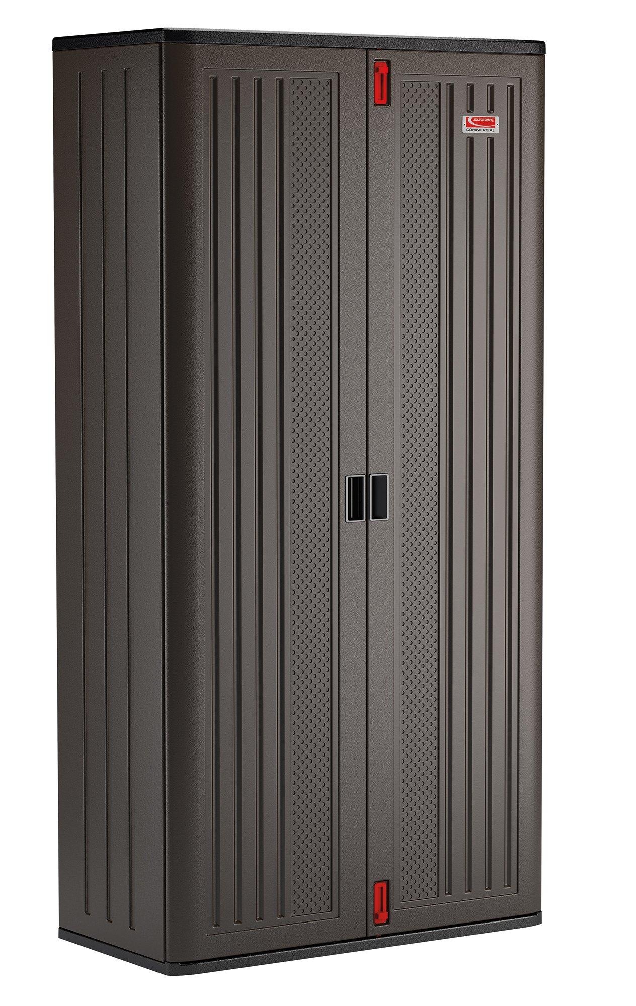 Suncast Commercial Blow Molded Mega Tall Cabinet in 4 Shelf