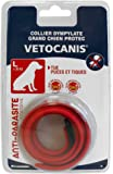 VETOCANIS Collier Antiparasitaire 7 Mois Rouge pour Grand Chien