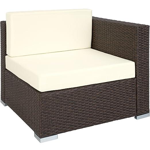 TecTake Aluminio POLIRATÁN Conjunto TRESILLO Muebles DE RATÁN Conjunto para JARDÍN Incl. Fijaciones (Marrón Antiguos | no. 401817)