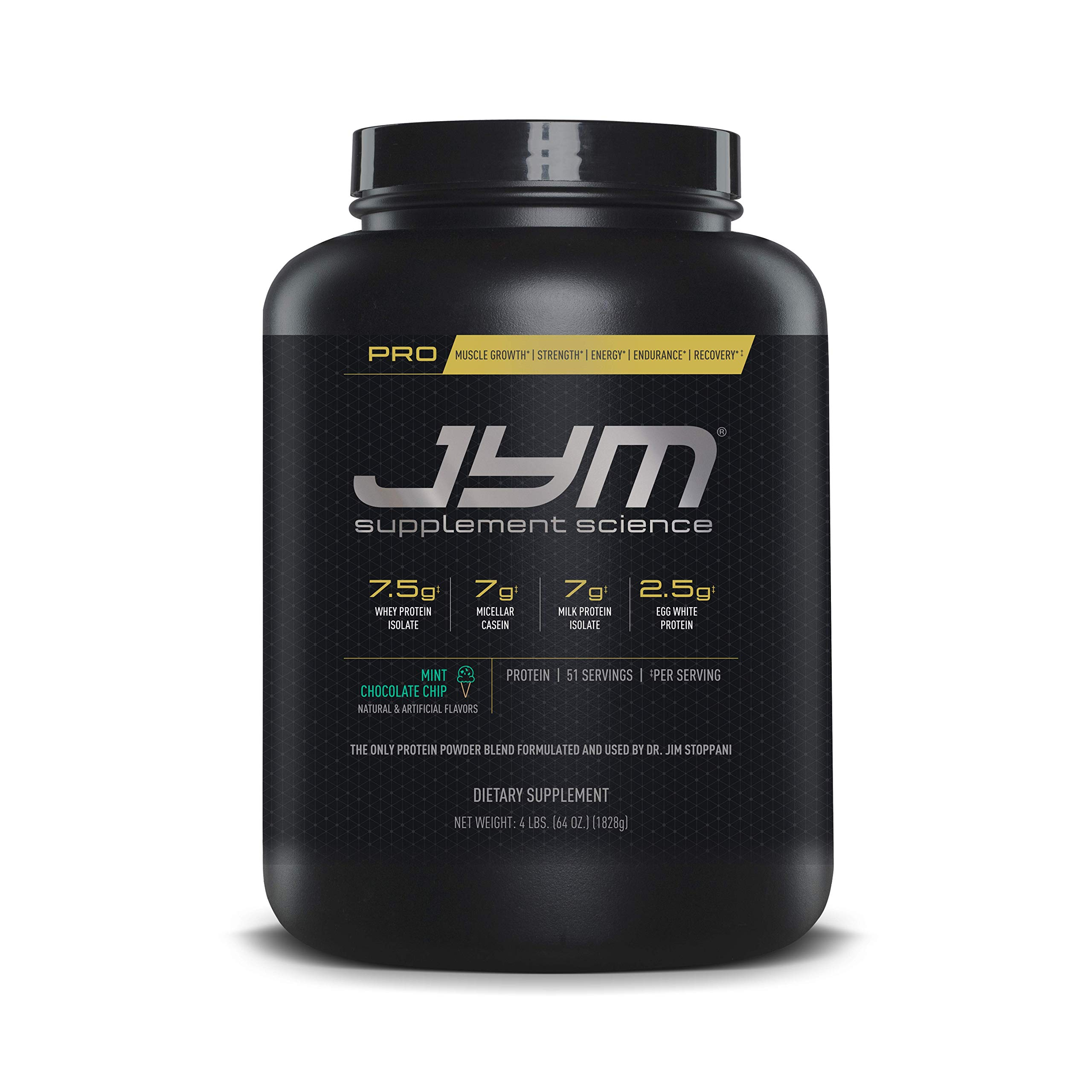 Pro Jym Protein Powder - Egg White, Milk, Whey protein isolates & Micellar Casein | JYM Supplement Science | Mint Chocolate Chip Flavor, 4 Lb by JYM Supplement Science