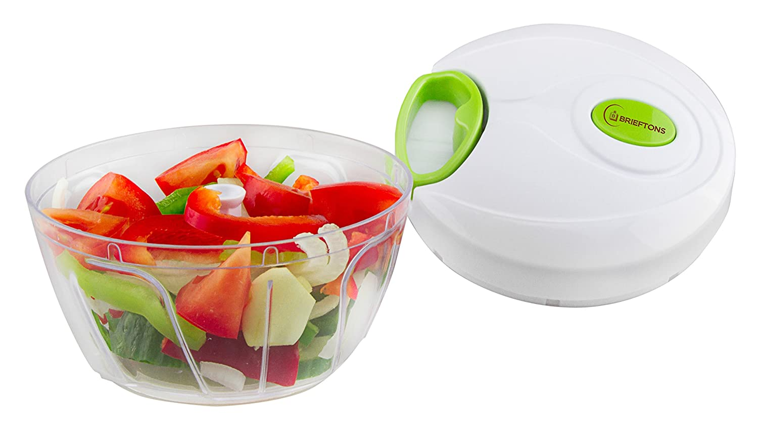 Amazon.com: Brieftons Manual Food Chopper, Compact And Powerful Hand Held  Vegetable Chopper/Mincer/Blender To Chop ...