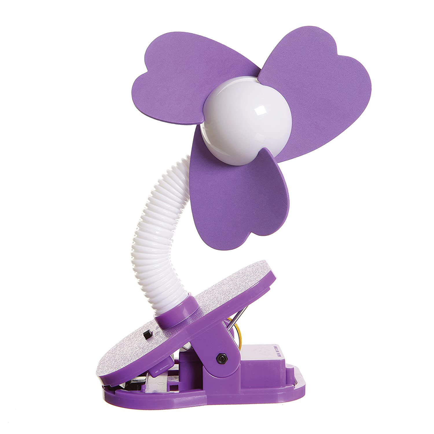 Dreambaby Stroller Fan - Purple/White T04