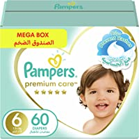 Pampers Premium Care, Size 6, Extra Large, 13+ kg, Mega Box, 60 Diapers