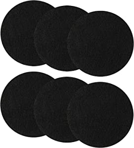 Resinta 6 Pieces Compost Bin Filters Kitchen Activated Carbon Filters Compost Bin Replacement Filters, 6.25 Inches, Round