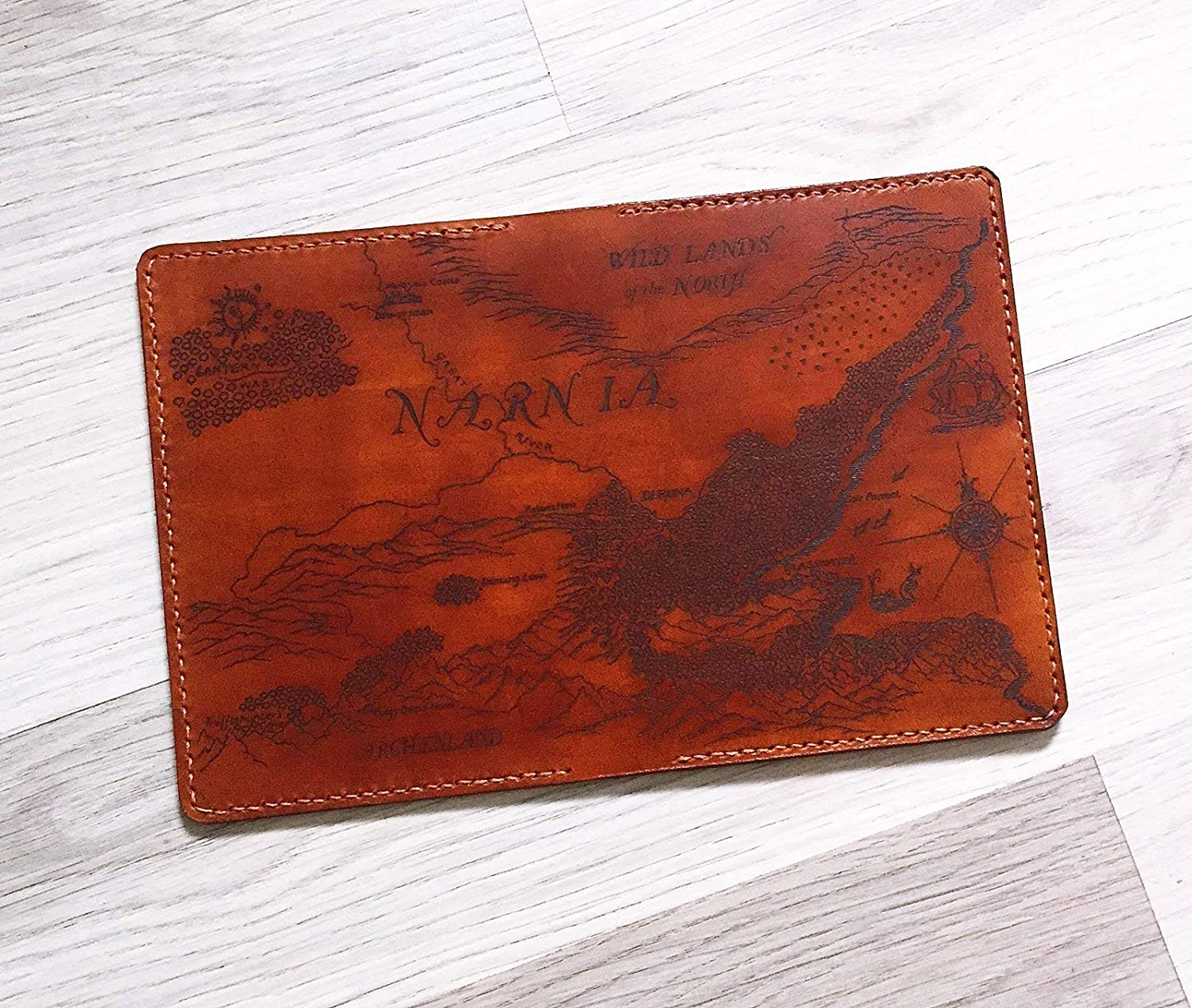 The Chronicles of Narnia Personalized leather handmade passport cover holder wallet case gifts