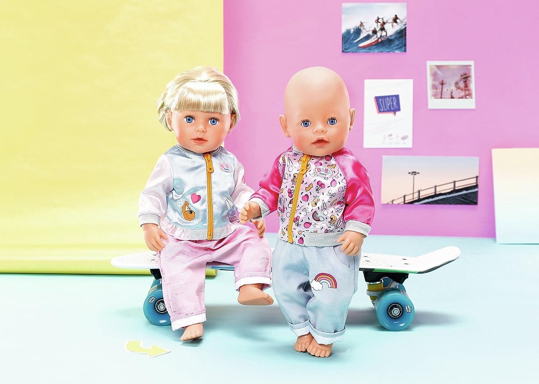 Amazon.es: Zapf BABY born Casuals Juego de ropita para muñeca - Accesorios para muñecas (Juego de ropita para muñeca, 3 año(s), Multicolor, 43 cm, Chica, ...