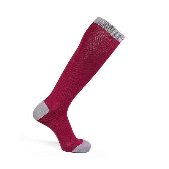 Calcetines de compresión para ejercicio, embarazo, viajar o General comodidad por Saga Socks, 2 Pack, Argyle y rosa: Amazon.es: Deportes y aire libre