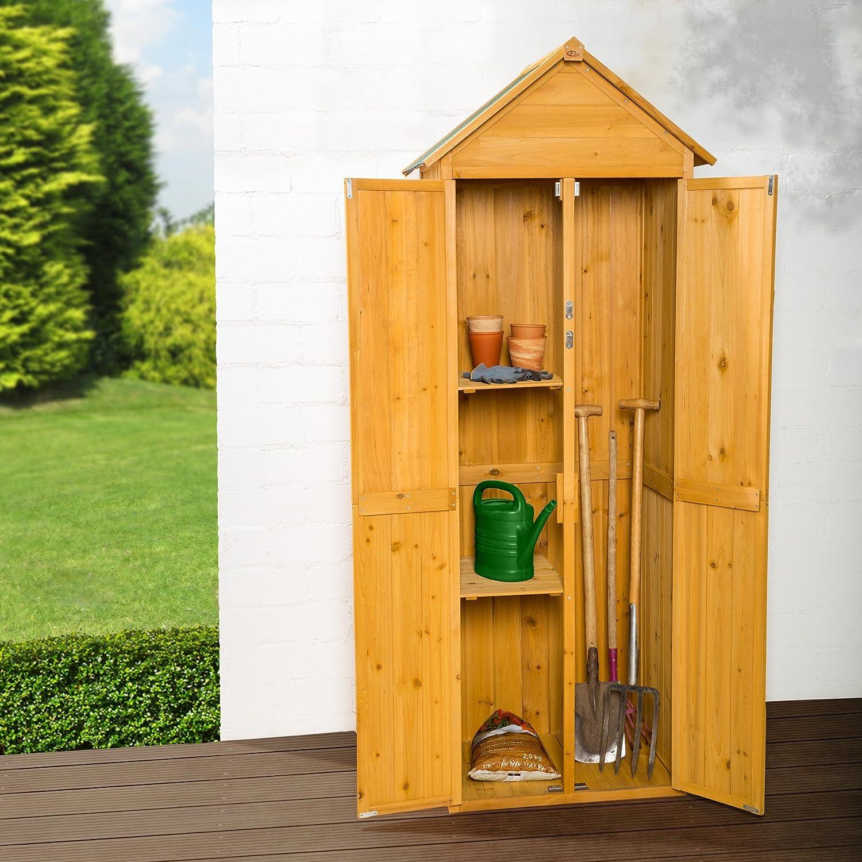 TecTake Armadio da esterno in legno casetta per gli attrezzi ...
